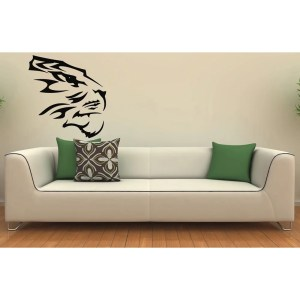 Tiger Head Vinyl Wall Decal