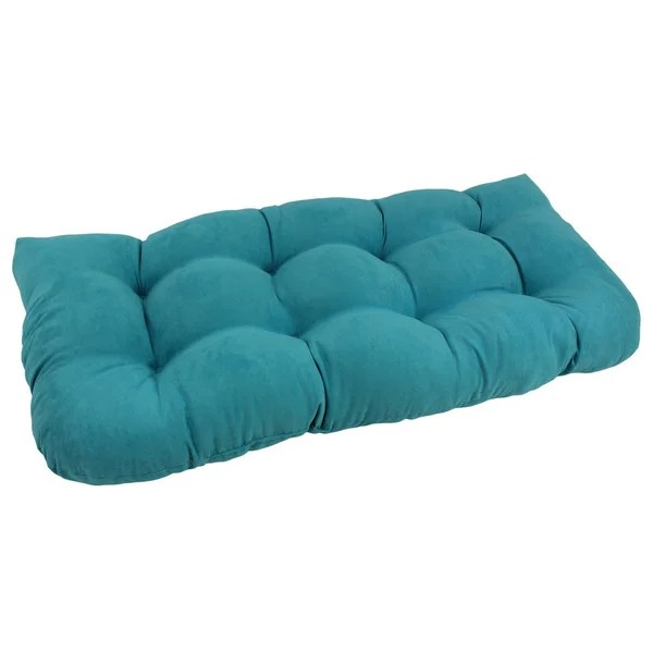 Blazing Needles Tropical UShaped Tufted Microsuede Settee