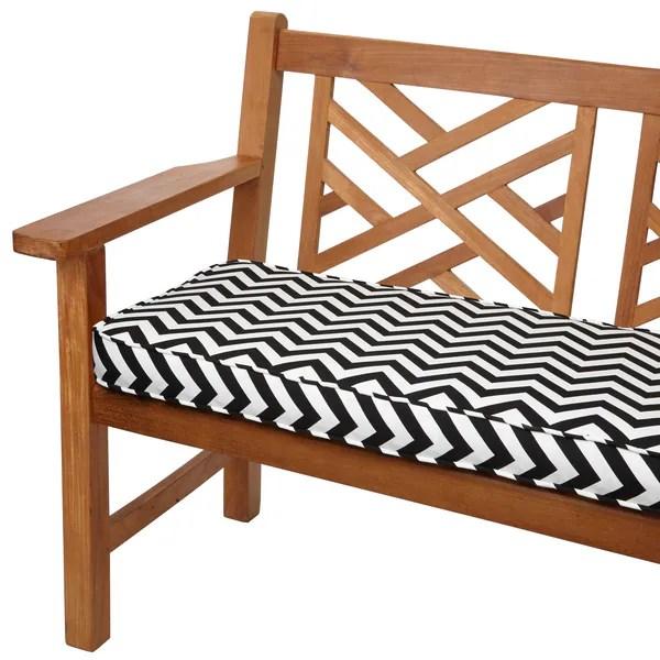 Shop Black Chevron 48 Inch Indoor Outdoor Corded Bench