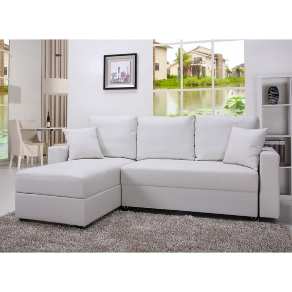 aspen convertible sectional storage sofa bed sears canada sleeper shop gold sparrow white set