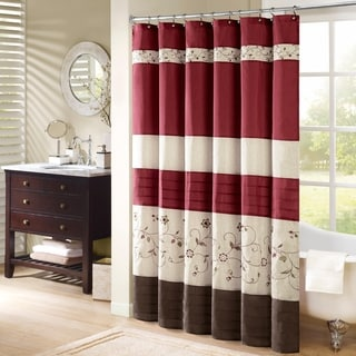 Red Shower Curtains Overstock Com Vibrant Fabric Bath Curtains