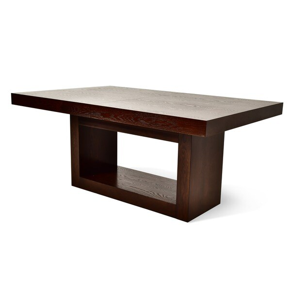 Amia Espresso Dining Table With Removable Leaf By Greyson