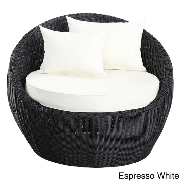 Shop Luna Outdoor Round Rattan Patio Chair  Free Shipping