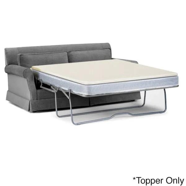 Select Luxury Reversible 1 5 Inch Sofa Bed Sleeper Memory Foam Mattress Topper
