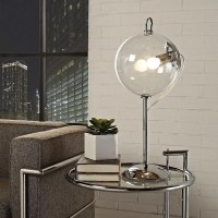 Shop Modway 'Cheer' Transparent Glass Shade Modern Table ...