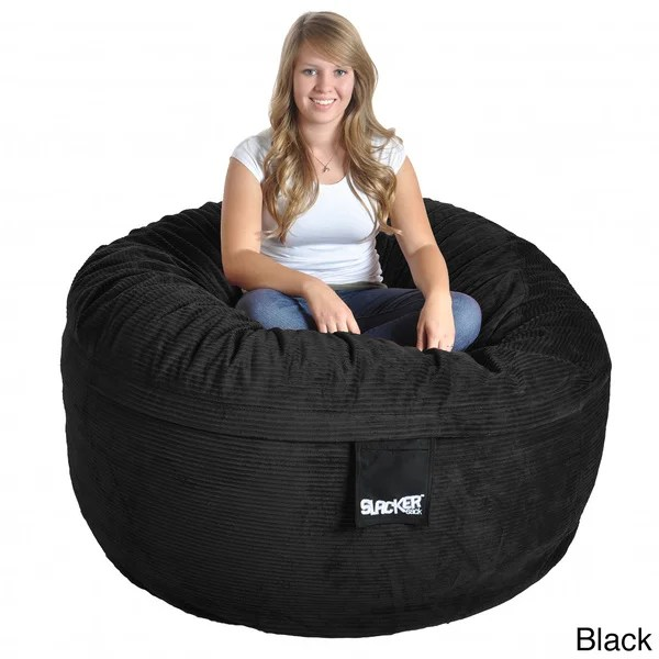 corduroy bean bag chair best buy game shop slacker sack 5 foot round free shipping today overstock com 8610148