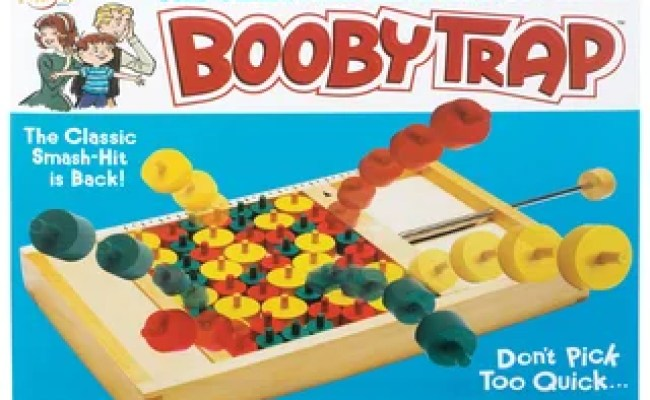 Shop Classic Wood Booby Trap Spring Action Board Game