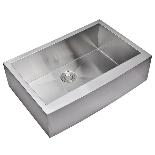 22 inch kitchen sink how much does remodel cost shop water creation 33 x zero radius single bowl stainless steel hand