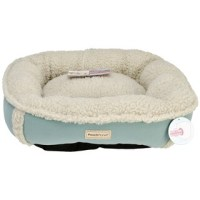 PoochPlanet DivineCanine Faux-Shearling Pet Bed-Small ...