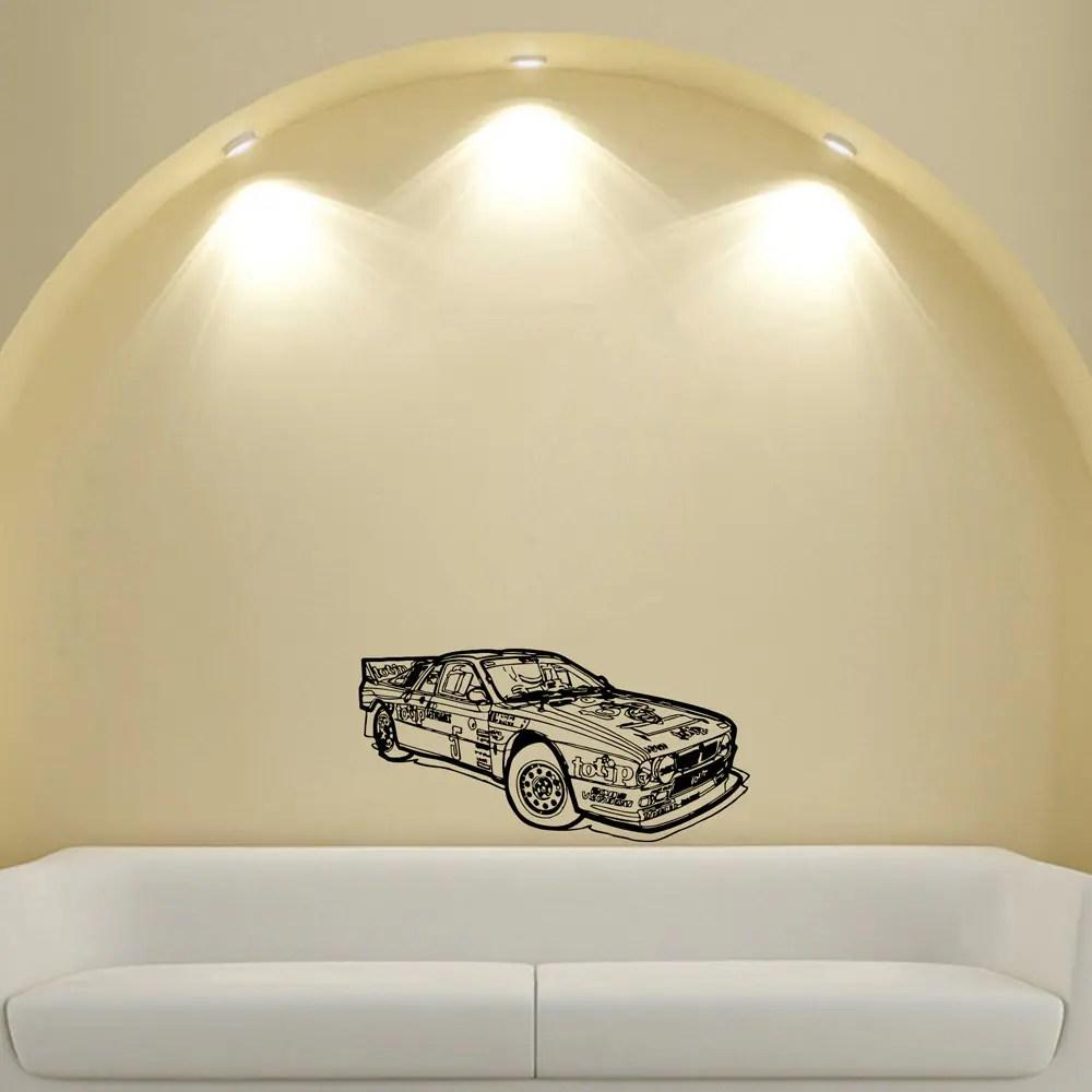 Rally Racing Machine Stickers Tuning Design Vinyl Wall Art Decal