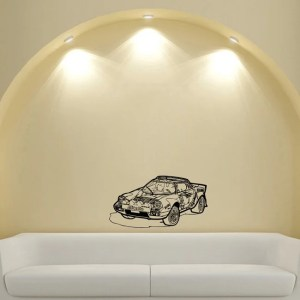 Rally Old Car Stickers Design Vinyl Wall Art Decal