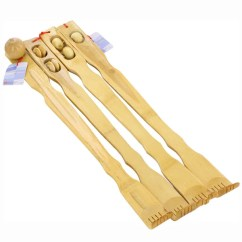 Grey Bathroom Safety Shower Tub Bench Chair Wicker Chairs Uk Only Bamboo Wood 20-inch Therapeutic Back Scratcher With Massage Rollers - 15905282 Overstock.com ...