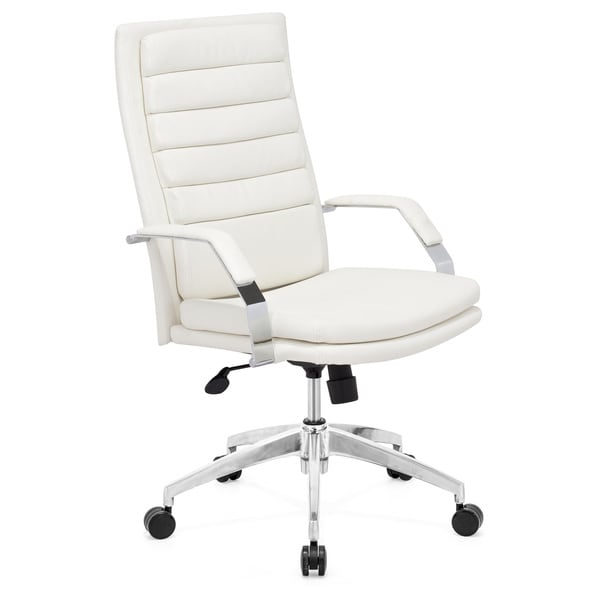 Director Comfort White Office Chair  Overstock Shopping