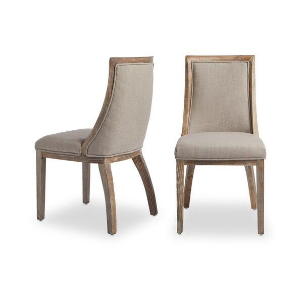 beige dining chairs gaming chair steel frame shop the gray barn park avenue linen set of 2