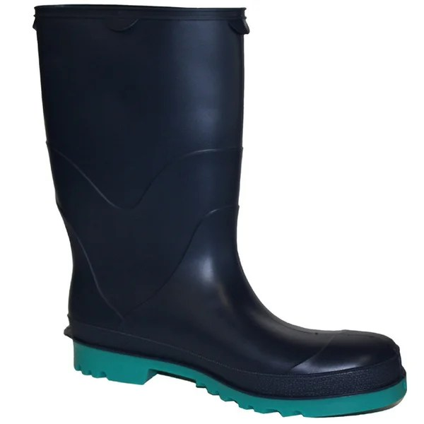 StormTracks Kid39s Black and Green Rubber Boots Overstock