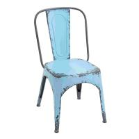 Shop Weathered Blue Metal Chair - Free Shipping Today ...