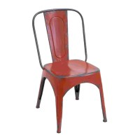 Distressed Red Metal Chair - 15939368 - Overstock.com ...