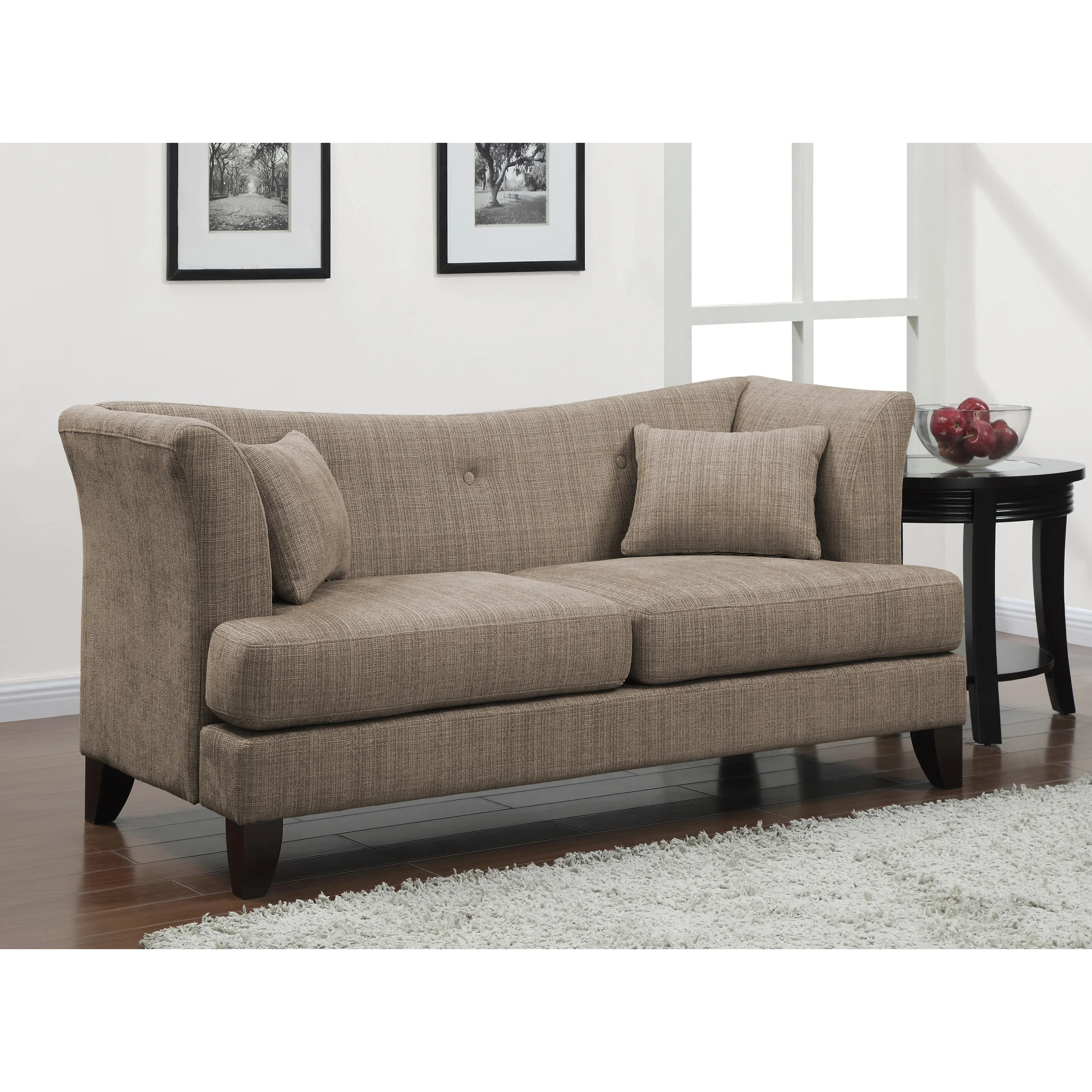 modern twine curved arm sofa poliform dune overstock shopping great