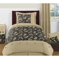 Shop Sweet Jojo Designs Boys 4-piece Army Green Camouflage ...