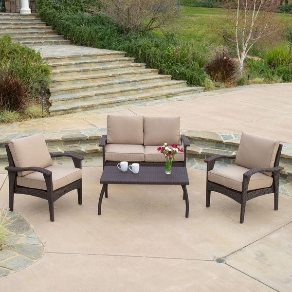 Christopher Knight Home Honolulu Outdoor 4piece Brown