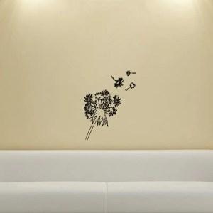 Dandelions in the Wind Wall Vinyl Decal
