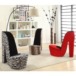 Zebra Print Chairs For Sale The Portable High Chair Heel Shoe Fabric - Free Shipping Today Overstock.com 15992264