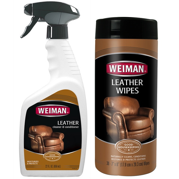 leather sofa cleaning products reviews american bed gina shop weiman cleaner and conditioner 2-piece care ...