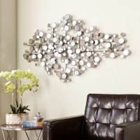 Mirrored Metal Wall Sculpture Mirror Mirrors Living Room ...