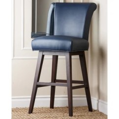 Christopher Knight Leather Chair Knoll Lounge Shop Kent Royal Blue Bonded Bar Stool - Free Shipping Today Overstock.com 8749943