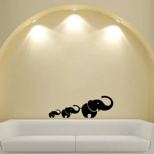 Mom and Baby Elephants Trunk Animal Wall Vinyl Decal