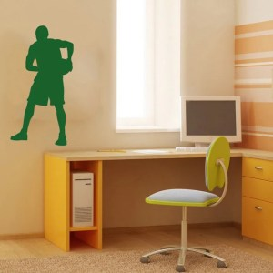 Basketball Player Sports Man with Ball Wall Vinyl Decal