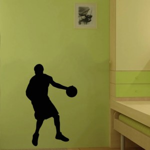 Basketball Player Pivot Sports Man with The Ball Wall Vinyl Decal