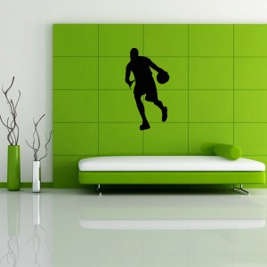 Basketball Player Sports Man Balance with The Ball Wall Vinyl Decal