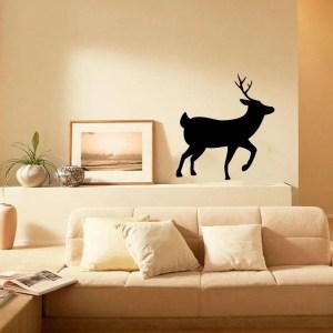 Deer Antlers Vinyl Wall Decal