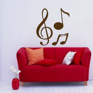 Treble Clef Music Notes Wall Art Vinyl Decal Stickers