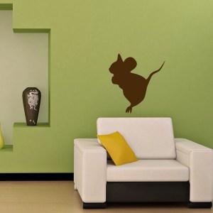 Mouse Animal Beast Wall Vinyl Decal Art Design Murals Interior Decor Sticker