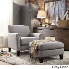 Gray Accent Chair With Ottoman Mini Electric Buy Sets Living Room Chairs Online At Overstock Com Our Best Furniture Deals