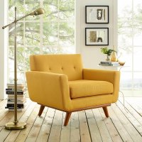 Engage Wooden Leg Mid Century Armchair - Free Shipping ...