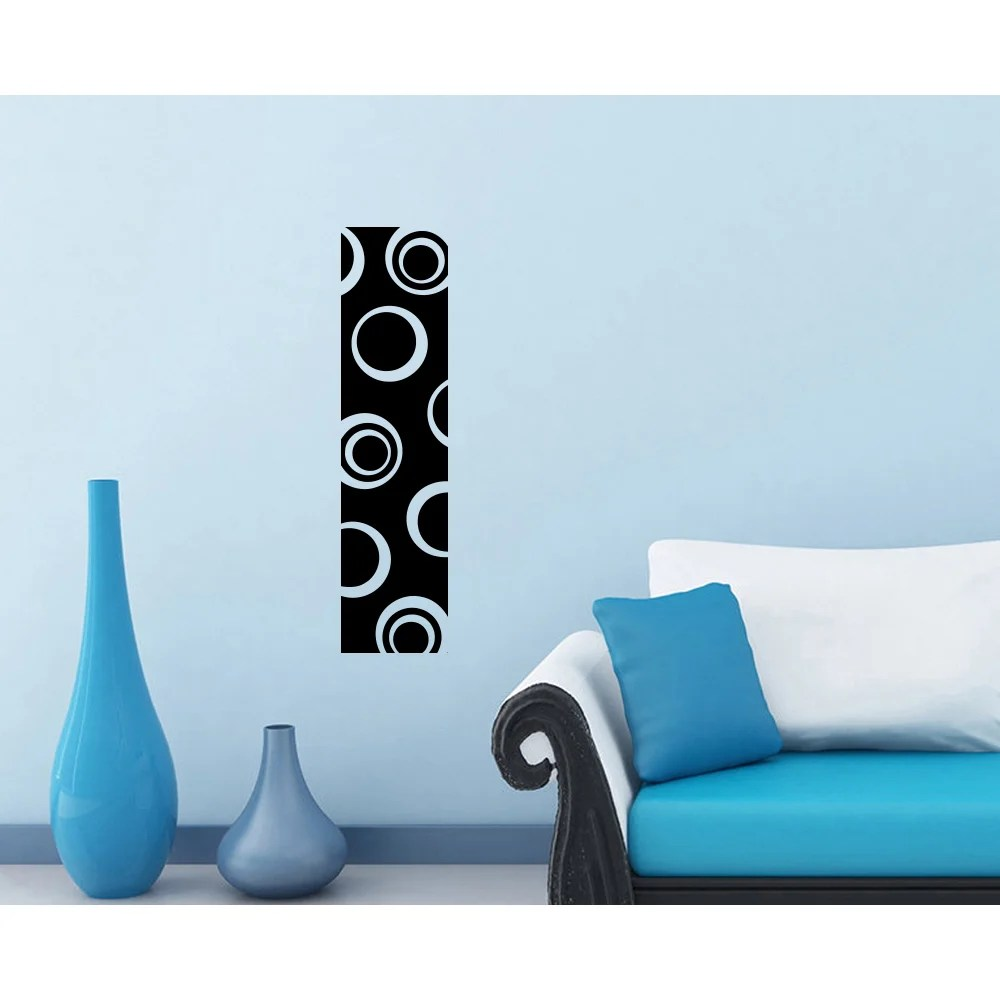 Modern Circles Strip Black Vinyl Sticker Wall Decal