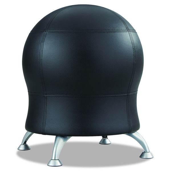 Shop Safco Zenergy Black Vinyl Ball Chair  Free Shipping