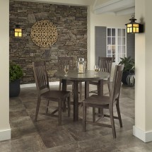 Concrete Chic 5-piece Dining Set Home Styles