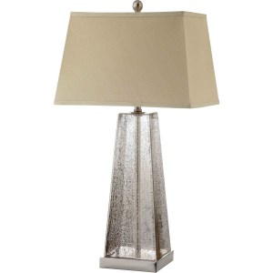 Armley Glass 1-light Steel Table Lamp