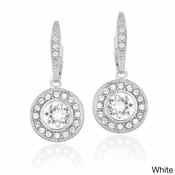 Shop Crystal Ice Silvertone Crystal Halo Earrings with