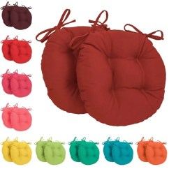 16 Inch Round Chair Cushions Swing Stand For Sale Shop Blazing Needles Tufted Twill (set Of 2) - Free Shipping On Orders Over ...