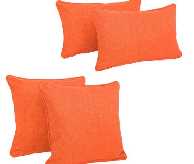 Blazing Needles Delaney Indoor Outdoor Throw Pillow Set Set Of 4