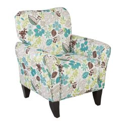 Overstock Arm Chair Wheelchair Donation Upton Home 39margo 39 Teal Floral Upholstered