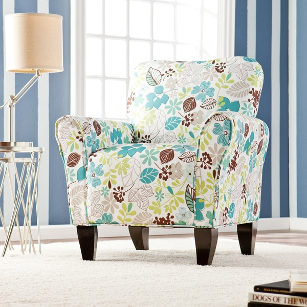 Harper Blvd 39Margo39 Teal Floral Upholstered Arm Chair