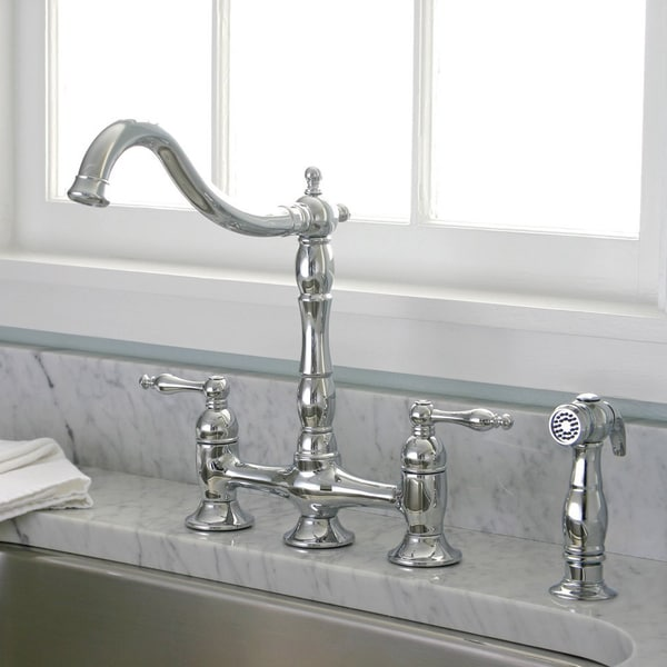 danze opulence kitchen faucet cabinet with drawers charelstown bridge-style 2-handle chrome