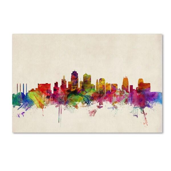 Shop Michael Tompsett Kansas City Watercolor Skyline