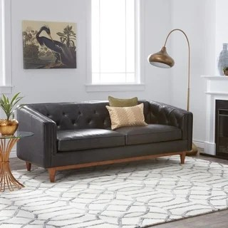 black leather sofa full size air mattress for bed buy sofas couches online at overstock com our strick bolton natty button tufted